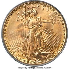 1929 double eagle obverse