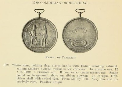 COLUMBIAN ORDER medal from the W.W.C. Wilson sale