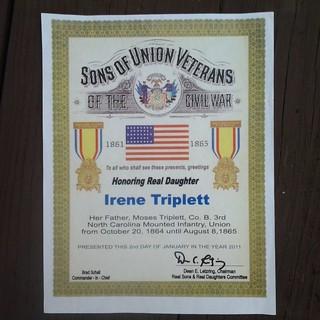 Irene Triplett Sons of Union Veterans