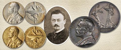 Erik Lindberg and his medals