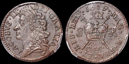 James II gunmoney shilling