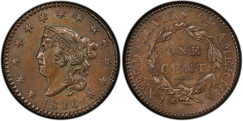 1816 Large Cent The Golden Bisquit