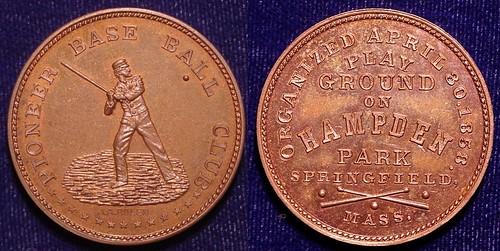Bolen Springfield Pioneer Baseball Club Medal