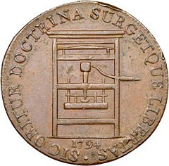 1794 Franklin Press Token obverse Before conservation