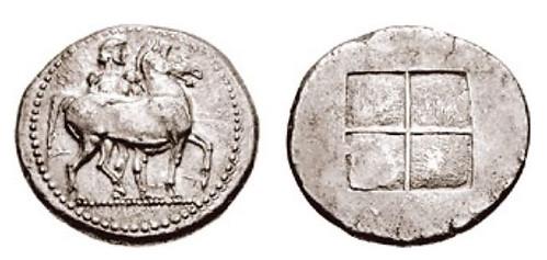 THRACO-MACEDONIAN TRIBES Oktadrachm