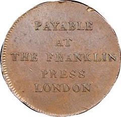1794 Franklin Press Token reverse After conservation
