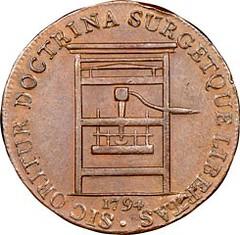 1794 Franklin Press Token obverse After conservation
