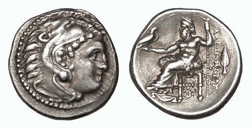 Zeus on silver drahm of Alexander the Great