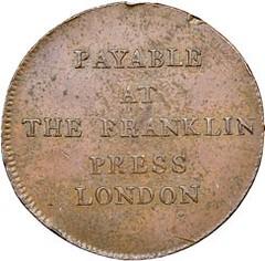 1794 Franklin Press Token reverse Before conservation