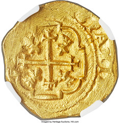 Philip V gold Cob 4 Escudos 1713 MXo-J MS63 NGC_Heritage_Auctions_2