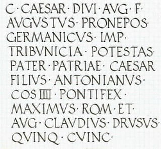 Roman Imperial lettering