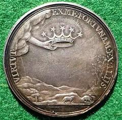 Charles I Silver Memorial Medal reverse
