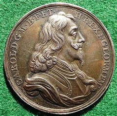 Charles I Silver Memorial Medal obverse