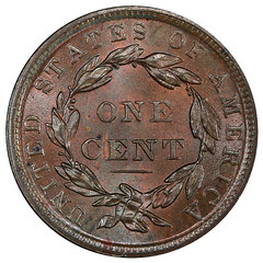 1839 Silly Head Cent reverse