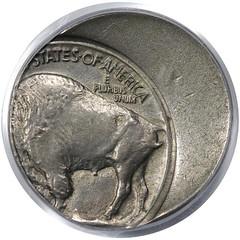 Off Center 1930 Buffalo Nickel reverse