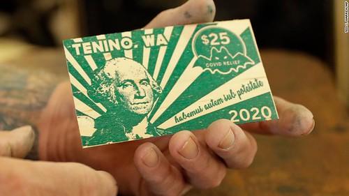 2020 Tenino $20 wooden scrip note