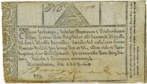 1803 Copenhagen Exchange & Mortgage Bank Note