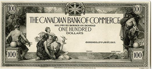 1917 Canadian Bank of Commerce Proof
