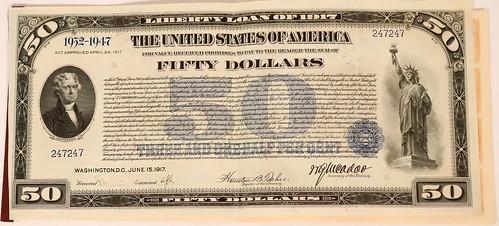 1917 $50 Liberty Loan Bond