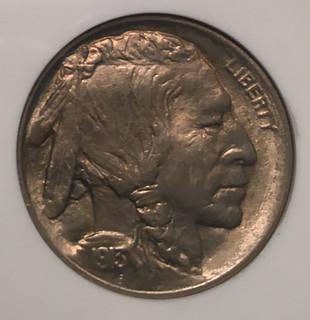 Close-up Obv. Image 1913 Type I Buffalo Nickel