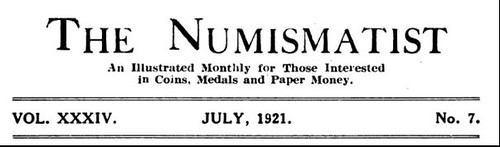 The Numismatist July 1921