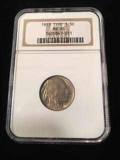 Obv. Image #2 1913 Type I Buffalo Nickel