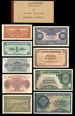 Austria Allied Military Currency booklet