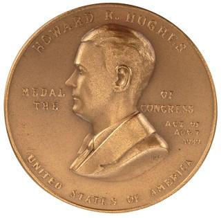 Howard Hughes Congressional Gold Medal obverse