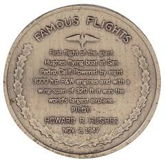 Spruce Goose medal reverse