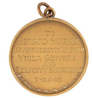 Amelia Earhart Medal reverse