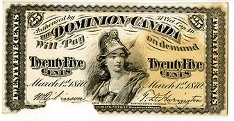 Dominion of Canada, 1870 Face Proof