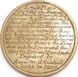 Caldwell Lord's Prayer cent reverse