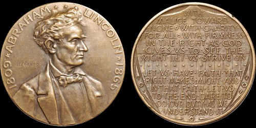 Columbian Expo Lincoln medal King 504 Eglit 85A
