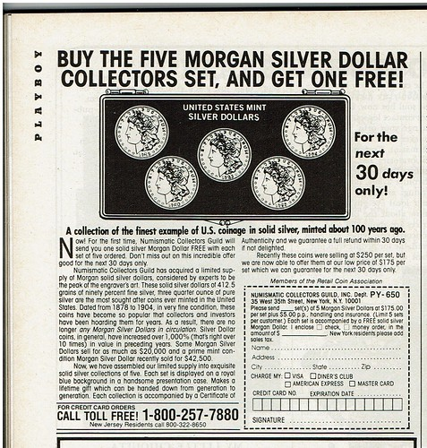 United States Mint Silver Dollars ad