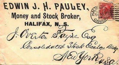 PAULEY, Edwin Money Broker post card 1899