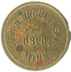 John Wroblewski $1.20 token Case Bottles obverse