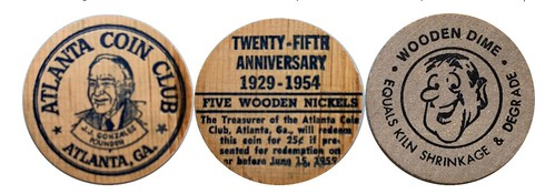 Atlanta GA wooden nickels