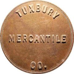 Tuxbury Mercantile token obverse