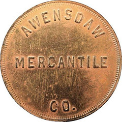Avensdaw Mercantile token obverse