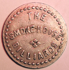 Smokehouse Billiards token 1 and two-thirds cents reverse