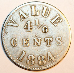 M.JAck Loaf Bread token 4 and one sixth cent token obverse