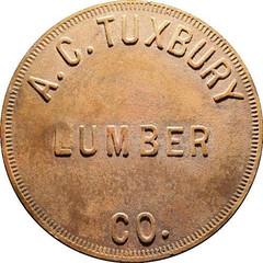 Tuxbury Lumber $1.10 token obverse