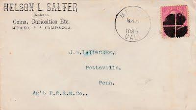 SALTER, NELSON, 1895 postcard