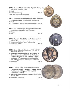 Philippine Medals and Tokens 3rd Edition P. 90