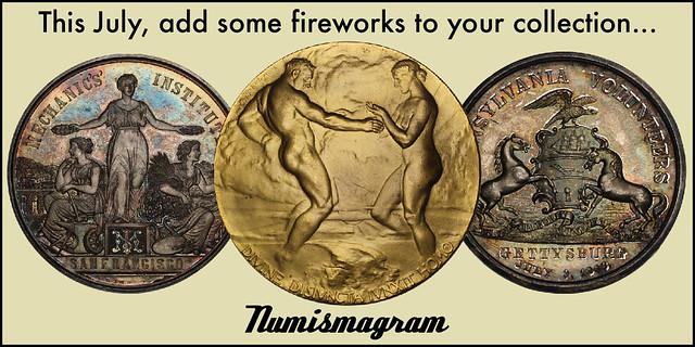 E-Sylum Numismagram ad34 Fireworks