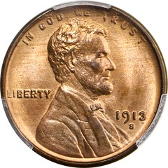 1913-S Lincoln Cent obverse