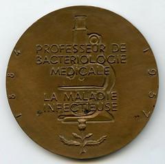 Paulin de Lavergne Bacteriology Medal reverse