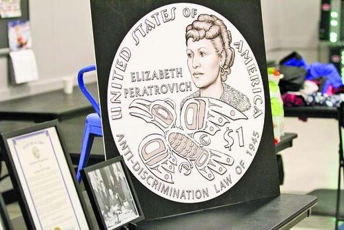 Elizabeth Peratrovich dollar coin design