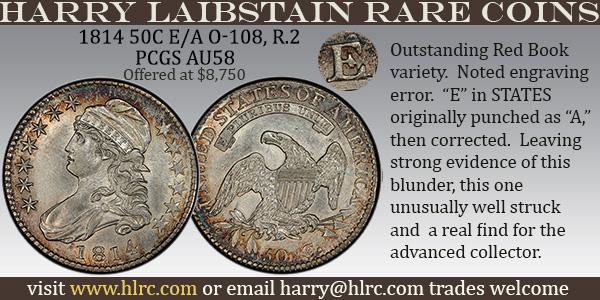 HLRC E-Sylum ad 2020-07-12 1814 Half Dollar