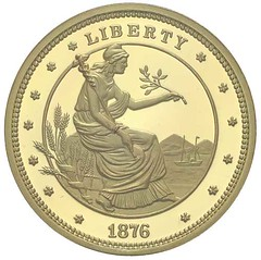 Morgan proposed gold union fantasy obverse